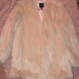 Forever 21 Faux Fur Pink Jacket Size Medium